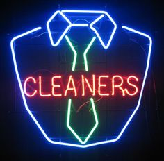 dry cleaner sign