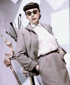 Legendary Costume Designer, Edith Head.  One of the most nominated Women is all Hollywood History, with over 30 Academy Award Nominations, this was one lady who KNEW style.  Famous for wardrobes in Vertigo, Marnie & Sunset Boulevard.