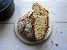 No-knead-bread mit Sauerteig