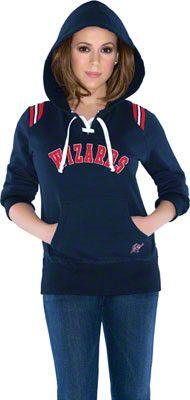Touch by Alyssa Milano Washington Wizards Laced Up Fleece Hooded Sweatshirt