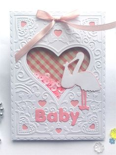 Cut & Emboss folder - Baby Shaker card | docrafts.com