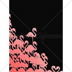 This Is An Abstract Flamingo Background