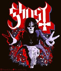 Amazing young Papa Nihil artwork by 👻 ・・・ 👻 CoG Homie Ghost Papa, Ghost Bc, Doom Metal Bands, Band Ghost, Ghost And Ghouls, Band Wallpapers, Music Is My Escape, Skeleton Art, Ozzy Osbourne