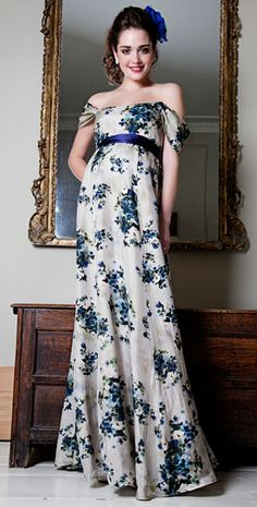 Florence Maternity Gown - Maternity Wedding Dresses, Evening Wear and Party Clothes by Tiffany Rose Dresses For Pregnant Women, Pregnant Wedding Dress, Maternity Gowns, Maternity Fashion, Maternity Wedding, Maternity Style, Tiffany Rose, Silk Gown, Types Of Dresses