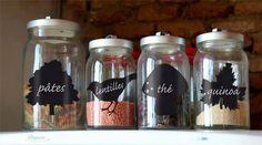 Ya no sabes lo que tenes en los frascos de tu cocina?? por que no los rotulas con estas etiquetas simil pizarra?? Vienen en packs de 10 unidades, conseguilas en Yo Quiero Uno!