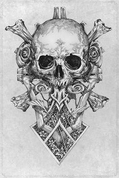 skull by VladGradobyk