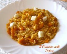 Riso con stafforella e zucca, il riso con Stafforella e zucca è un primo piatto caldo, di stagione. E' questa la prima zucca dell'anno, saporita e corposa.