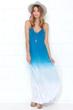 Mysterious Waterways Blue Dip-Dye Maxi Dress at Lulus.com!