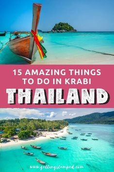 A guide to exploring Krabi, Thailand: 15 amazing things to do in this beach destination located on Thailand's southwestern coast. Relax on Railay Beach, kayak along the Krabi coast, go island hopping. Krabi Thailand, Visit Thailand, Pattaya Thailand, Cool Places To Visit, Places To Travel, Travel Destinations, Wedding Destinations, Thailand Travel Tips, Asia Travel