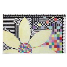 Rainbow Flower needlepoint canvas