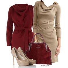 A fashion look from November 2012 featuring Banana Republic dresses, Dorothy Perkins coats and Alexander McQueen tote bags. Browse and shop related looks.