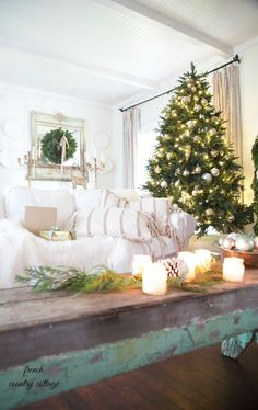 French Country Rustic Elegant Christmas Dining Room Holiday Decor Ideas Pinterest And