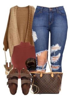 A fashion look from November 2015 featuring WearAll tops, Birkenstock sandals and Louis Vuitton tote bags. Browse and shop related looks. Cute Casual Outfits, Swag Outfits, Stylish Outfits, Teen Fashion, Winter Fashion, Fashion Outfits, Womens Fashion, Fashion Weeks, Paris Fashion