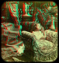 The Childs Prayer 1901 anaglyph 3D by depthandtime, via Flickr