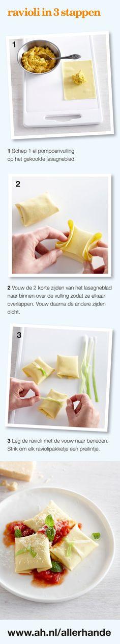 Ravioli in 3 stappen
