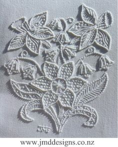 JMD Designs Home - Janet M. Davies - New Zealand - Free Mountmellick Tutorial- Needlework, Quilting and Applique