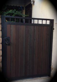 Combination Gates Lakewood - Steel Framed Wood Gates Lakewood