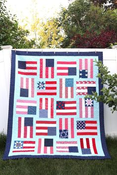 Flying Flags Quilt Tutorial | Diary of a Quilter - a quilt blog