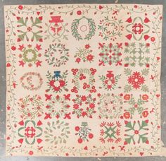 American cotton work album quilt : Lot 1237