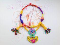 modern kybele uterus shaped handmade yellow by abelljewelry