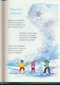 detské básne - Hľadať Googlom Portfolio, Winter Time, Poems, Preschool, December, Xmas, Teacher, Education, Reading