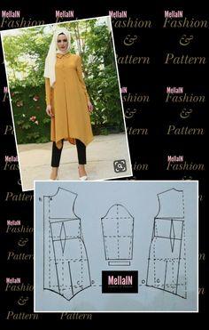 Abaya Pattern, Bodice Pattern, Sewing Clothes Women, Girls Fashion Clothes, Blouse Patterns, Clothing Patterns, Dress Sewing Tutorials, Sewing Blouses, Mccalls Sewing Patterns