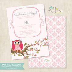 custom birthday party invitation baby shower by BluGrass on Etsy