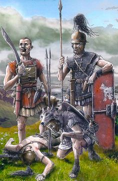 Legionaries in the battle of Baecula, 208 BC