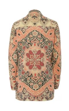 Etro's jacket has such a cool, vintage-inspired tone to it––notice the bold pattern and silhouette. It's been made in Italy from Neutra and designed with a pointed collar and slim fit. For your next casual weekend outing, layer over a high-neck blouse. Folk Print, Alexis Mabille, High Neck Blouse, British Indian, Cotton Jacket, Printed Cotton, Vintage Inspired, Cool Designs, Style Inspiration
