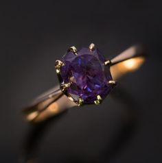 made in Ekaterinburg (Sverdlovsk), capital of the Ural province, in the A vintage gold ring features a very fine ct cushion cut natural Wedding Rings Vintage, Vintage Rings, Antique Jewelry, Vintage Jewelry, Alexandrite Jewelry, Soldering Jewelry, Purple Jewelry, Bohemian Rings, Jewelery