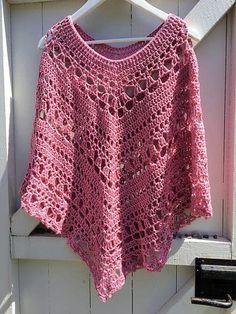 2 Lacy Day Poncho by Johanna Lindahl - Featured on Free Pattern Friday at ODC