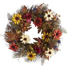 ​Embrace the coziness of autumn with a wreath that gives guests a warm welcome.