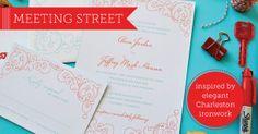 Meeting Street Wedding Invitations by Delphine