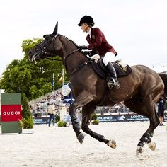 Edwina Tops-Alexander, Gucci Equestrian ambassador, with her horse Ego
