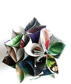 origami=bouquet everlasting  via etsy