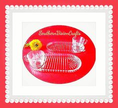 Check out this item in my Etsy shop https://www.etsy.com/listing/264249589/plate-and-cup-luncheon-tray-set-glass