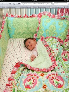 Blanket for Brittany by LottieDaBaby on Etsy, $30.00