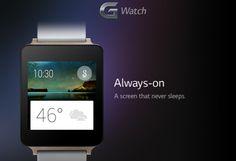 LG G Watch : la montre connectée débarque en Juin à 199€