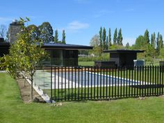 West Melton, Christchurch - Boundaryline New Zealand Pool Fence, Pool Decks, House Landscape, Pool Landscaping, Pool Designs, Case Study, New Zealand, Tropical, Backyard