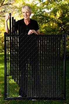 Amazon.com : 4ft Black Ridged Slats® for Chain Link Fence : Patio, Lawn & Garden