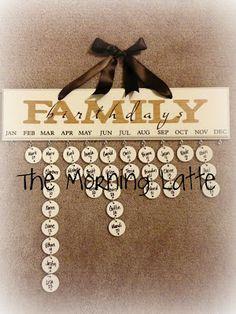 The Morning Latte: Family Birthday Board