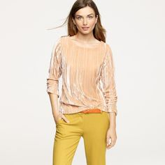 Color combo: Pumpkin & Peach (and a casual way to wear velvet)