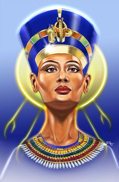 The Sun Queen by north900 on DeviantART. painting and airbrushing. Nefertiti, portraits, illustration