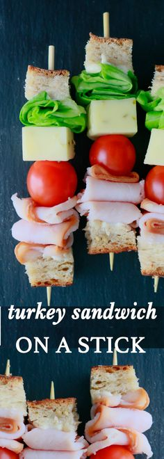 turkey sandwich for kids | lunch box ideas | lunch box recipes | school lunch ideas | easy lunch box | cute lunch box | skewered sandwich | sandwich on a stick | lunch on a stick