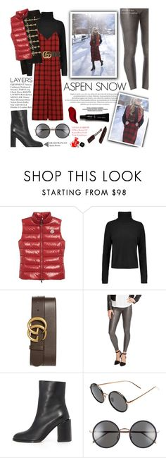 """""""Aspen Snow"""" by federica-m ❤ liked on Polyvore featuring Equipment, Gucci, SPANX, Chanel, Dear Frances, Linda Farrow and Kat Von D"""