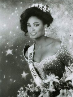 Carole Anne-Marie Gist was the first African American woman to win the Miss USA title. Gist first won the title of Miss Michigan USA and went on to win the Miss USA crown on March 1990 in Wichita, Kansas. Today In History, Women In History, Black History Facts, Black History Month, Kings & Queens, Divas, African American Women, African Americans, Miss Usa
