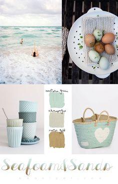 Colour Palette - Seafoam & Sands