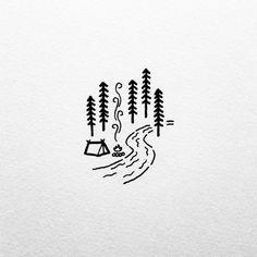 A river runs through it. by david_rollyn simple doodles drawings, random do Doodle Drawings, Doodle Art, Cute Drawings, Drawing Sketches, Drawing Ideas, Small Easy Drawings, Sketching, Small Doodle, Arte Sketchbook