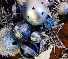 Blue and silver this year  #Christmas #ChristmasDecorations #ChristmasTree