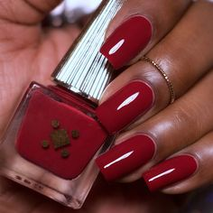 9 Fall Nail Polish Colors That Look Amazing On Black Women – Suite 3869 Dark Skin Nail Polish, Red Gel Nails, Dark Red Nails, Fall Nail Polish, Natural Nail Polish, Acrylic Nails, Pink Nail Colors, Toe Nail Color, Fall Nail Colors